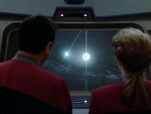 Púlsares binarios, tal y como aparecían en Star Trek