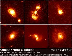 Imágenes de galaxias que albergan quásares en su interior