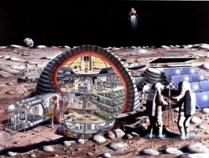 Concepción artística de un módulo lunar inflable.