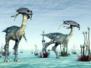 Quizá haya vida extraterrestre con una forma como la de esta recreación artística...