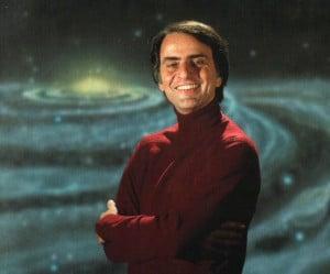Carl Sagan, en Cosmos