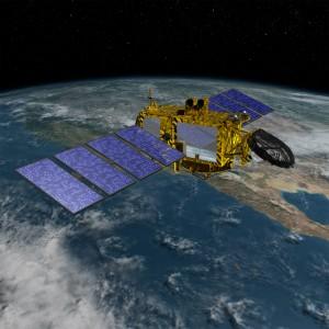 Recreación artística del satélite Jason-3. Crédito: NASA / JPL