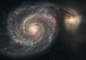 La Galaxia Remolino, y su compañera (llamada NGC 5194). Crédito: NASA y European Space Agency