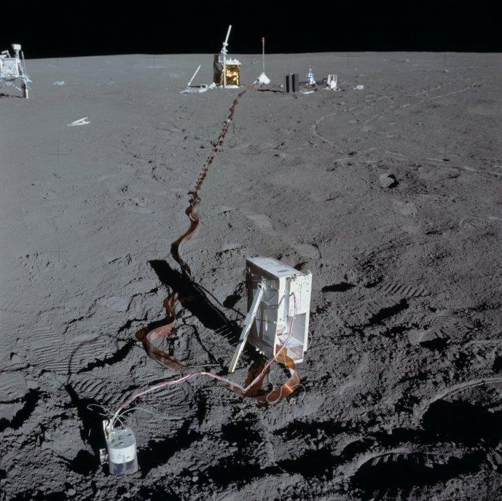 Imagen de la superficie lunar, tomada durante la misión Apolo 14. Crédito: NASA