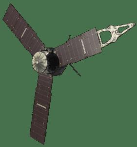 Concepto artístico de la sonda Juno. Crédito: NASA