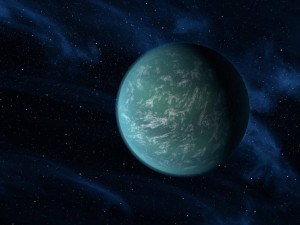Recreación artística de Kepler-22b. Crédito: NASA/Ames/JPL-Caltech