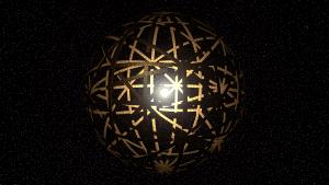 Impresión artística de una esfera de Dyson.  Crédito: Kevin Gill/Flickr