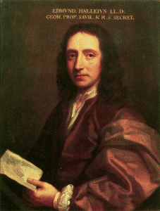 Retrato de Edmund Halley. Crédito: Thomas Murray