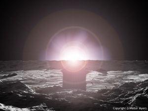 El Sol visto desde Mercurio. Crédito: Walter Myers