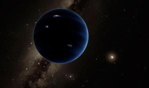 Concepto artístico del posible noveno planeta. Sería gaseoso, como Urano y Neptuno, pero más pequeño que ambos. Crédito: California Institute of Technology