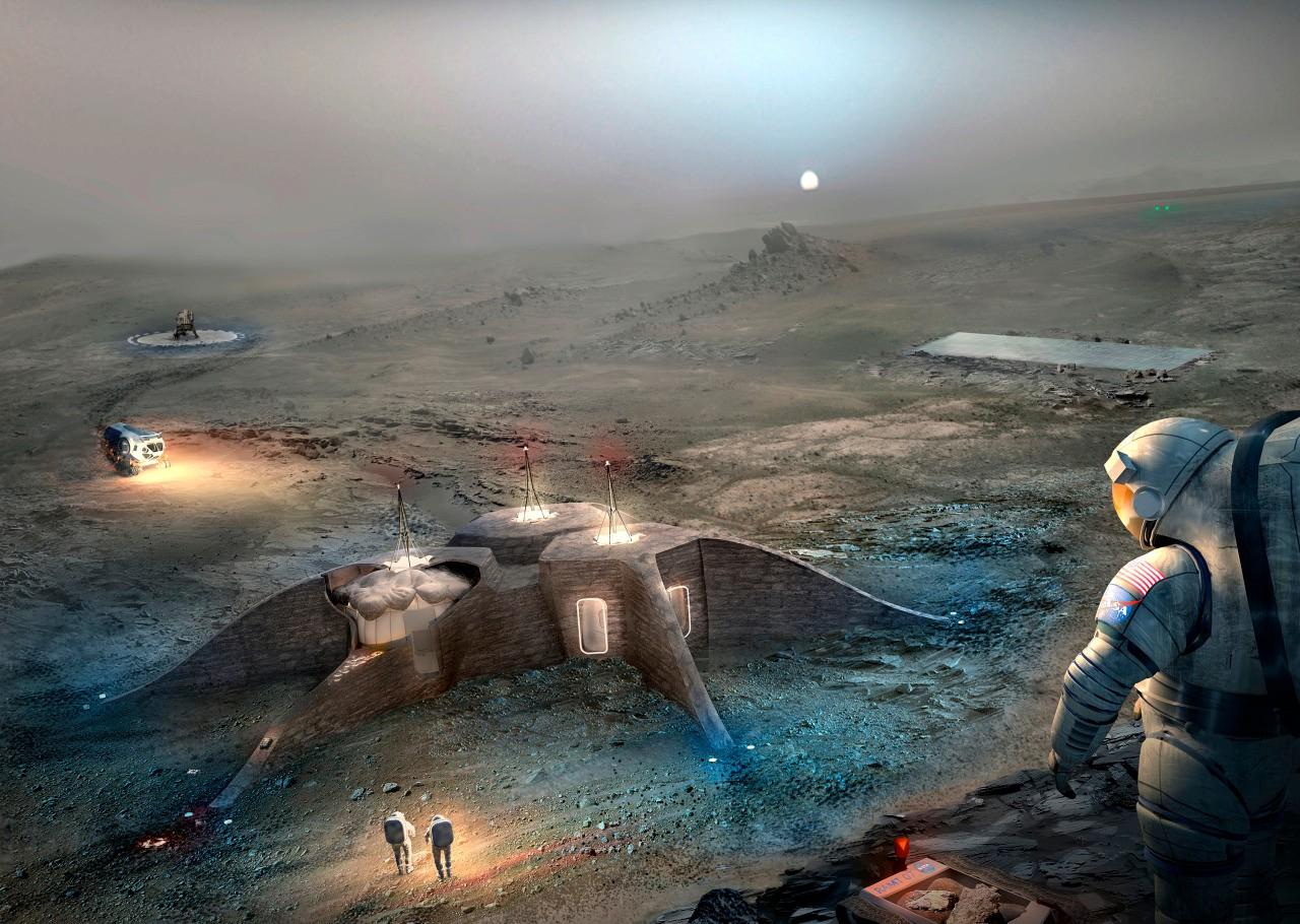 Resultado de imagen de Marte terraformado y con colonias de la Tierra