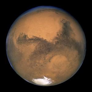 Marte, fotografiado por el telescopio Hubble en 2003. Crédito: NASA, ESA, and The Hubble Heritage Team (STScI/AURA)
