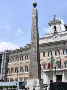 El obelisco de Montecitorio, que fue parte del Reloj Solar de Augusto. Crédito: Adrian Pingstone