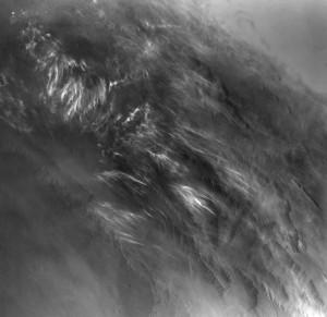 Imagen de nubes fotografíadas por la sonda Viking 1. Crédito: NASA/JPL