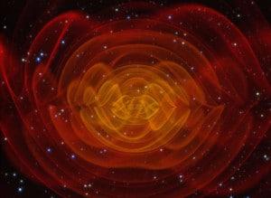 Simulación de ondas gravitacionales. Crédito: NASA/C. Henze