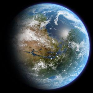 Marte terraformado podría tener un aspecto similar a éste. Crédito: Daein Ballard/Wikimedia Commons CC BY-SA 3.0.
