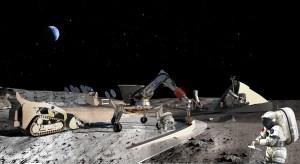 Según una serie de artículos que han sido publicados recientemente, la NASA predice que podría construir una base lunar en la Luna para 2022, y por menos coste del esperado. Crédito: NASA