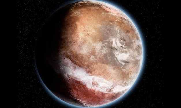 El agua moldeó las características de Marte