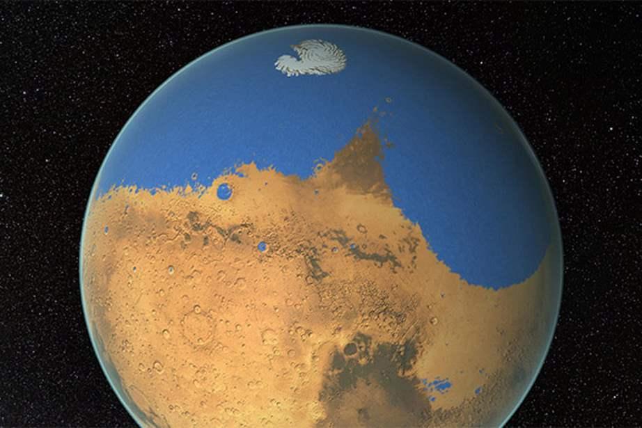 Los asteroides pudieron crear el océano de Marte