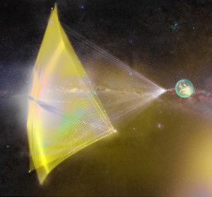 Concepto artístico de Breakthrough Starshot: Crédito: Breakthrough Initiatives