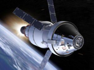 Concepto artístico de la cápsula Orión. Crédito: NASA