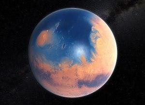 Marte pudo tener un océano en el hemisferio norte hace unos 4.000 millones de años. Crédito: ESO/M. Kornmesser/N. Risinger