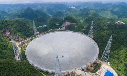 China termina la construcción del radio telescopio FAST
