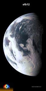 Imagen de la Tierra tomada por la cámara JunoCam. Crédito: NASA / JPL / MSSS / Gerald Eichstädt