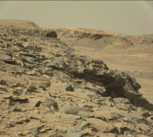 Imagen de Marte, tomada por el rover Curiosity el 3 de abril de 2016. Crédito: NASA/JPL-Caltech/MSSS