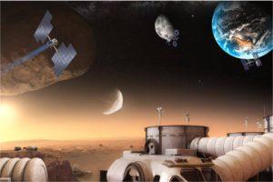 Las tecnologías en, y fuera de, Marte son parte de un conjunto de herramientas necesario para poder desarrollar la independencia de los residentes de Marte. Crédito: NASA
