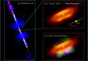 Material prebiótico en una joven estrella