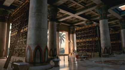 Concepto artístico de la Biblioteca de Alejandría.