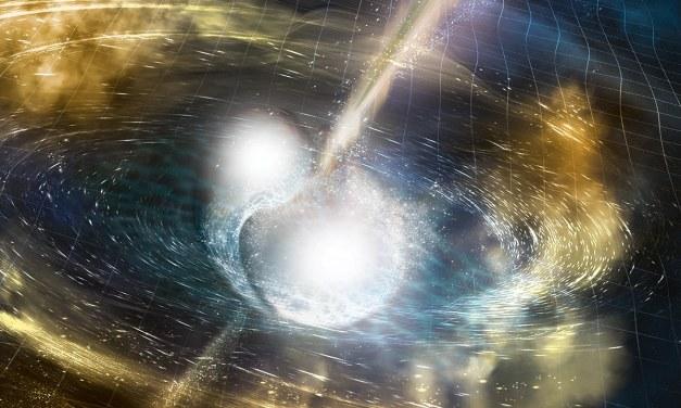 El choque de estrellas de neutrones, visto por primera vez