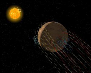 Marte tiene una cola magnética, según ha desvelado un reciente estudio.