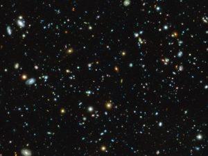 El campo ultraprofundo del Hubble observado con MUSE.