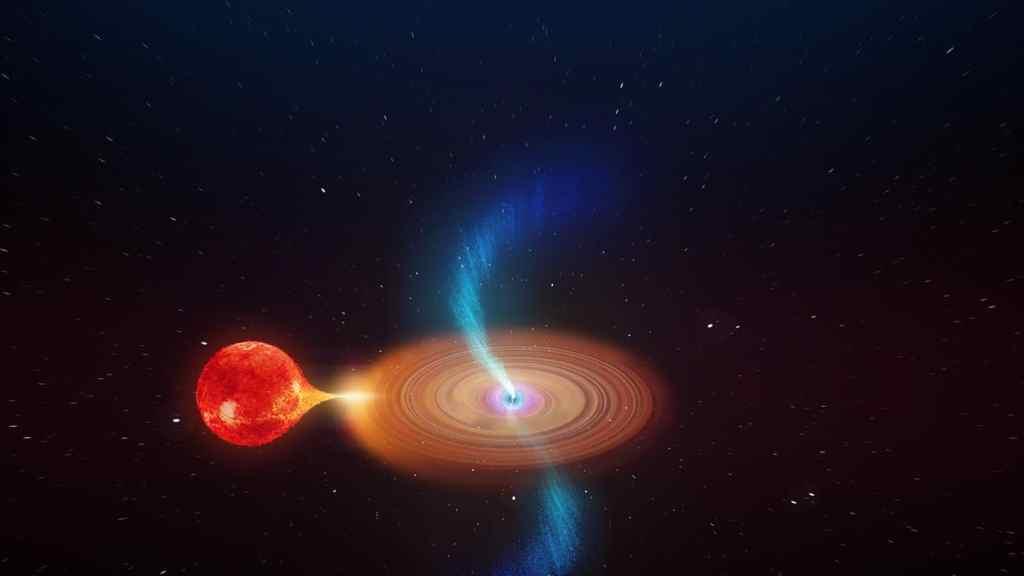 V404 Cygni: un agujero negro que deforma el espacio