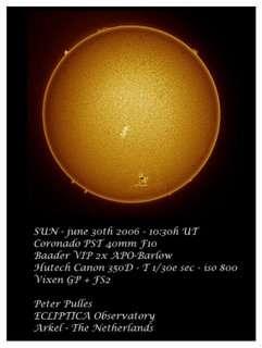 De zon op 30 juni door Peter Pulles