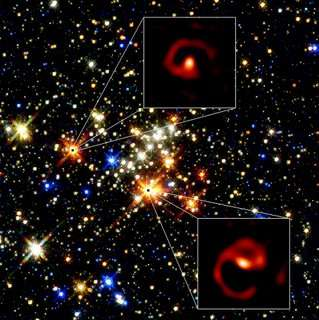 foto van het Quintuplet vlakbij het centrum van de Melkweg