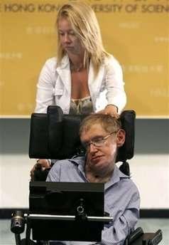 Stephen en Lucy Hawkings, momenteel in Hong Kong op tournee