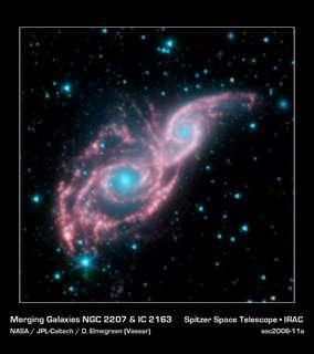 NGC 2207 en IC 2163