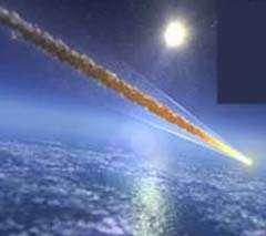 Meteoriet die door de dampkring raast