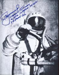Leonov tijdens z'n ruimtewandeling