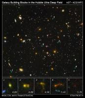 Sterrenstelsel-bouwstenen in de Hubble Ultra Deep Field