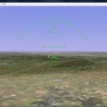 Flight simulator in Google Earth
