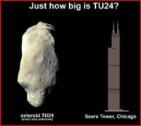 Oeps, behoorlijk groot die 2007 TU24!