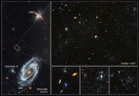 De jonge blauwe sterclusters tussen M81 en M82