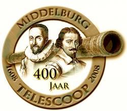 Het logo van 400 jaar telescopen