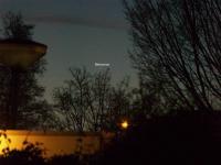 Mercurius laag aan de horizon