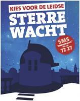 Actieposter voor de Sterrewacht Leiden tijdens de BankGiro Loterij Restauratie