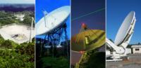 De vier deelnemende radiotelescopen
